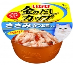 Ciao Kinnodashi Cup Chicken Fillet in Gravy Topping Dried Bonito Cat Wet Food (IMC147)
